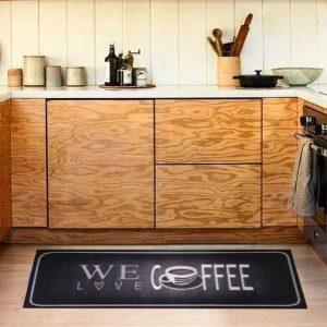 купить Коврик для кухни COOKY LOVE CAFE Черный|Серый фото 2