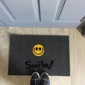 купить Коврик придверный LUNA ITALYAN GRI SMILE Серый фото 2