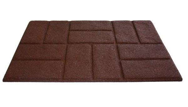 купить Коврик придверный Torn Brick Коричневый Коричневый фото 2