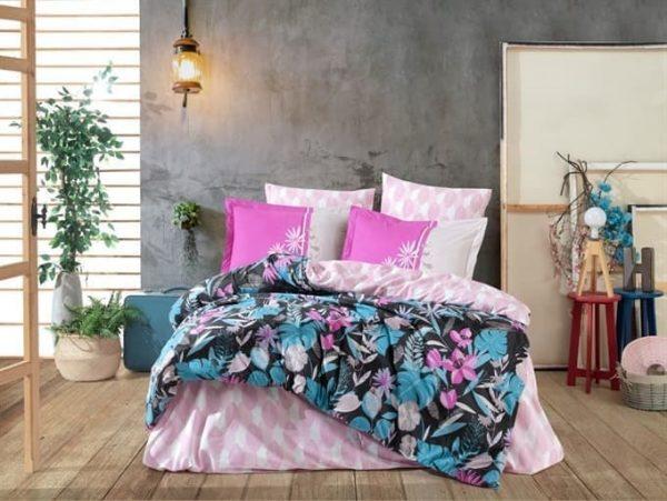 купить Постельное белье HOBBY Poplin Monstera pink Розовый фото