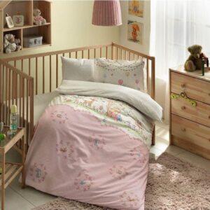 купить Постельное белье TAC Organik Candy pembe младенцам Розовый фото