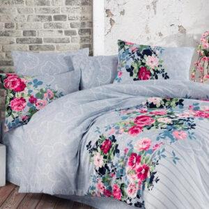 купить Постельное белье Linda ранфорс Garden Голубой фото