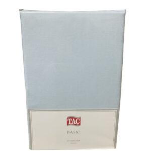 купить Простынь TAC ранфорс Basic 240x260 голубой Голубой фото