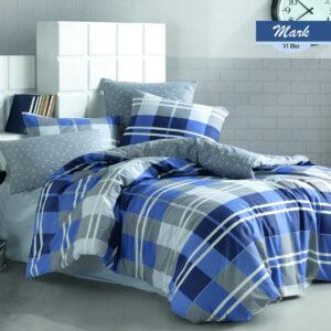 купить Постельное белье Zugo Home ранфорс Mark V1 Голубой фото