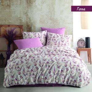 купить Постельное белье Zugo Home ранфорс Terra V3 Сиреневый фото