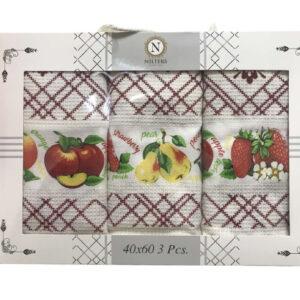 купить Набор кухонных полотенец Nilteks Fruit 3 шт  фото
