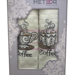 купить Набор кухонных полотенец Meteor Best Series Coffee V01 2 шт  фото