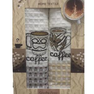 купить Набор кухонных полотенец Nilteks Quality Series Coffee V02 2 шт  фото
