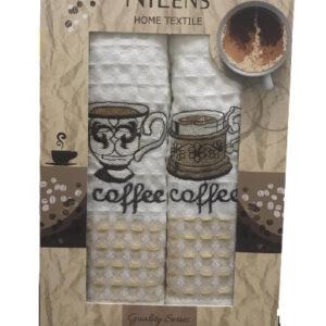 купить Набор кухонных полотенец Nilteks Quality Series Coffee V03 2 шт  фото
