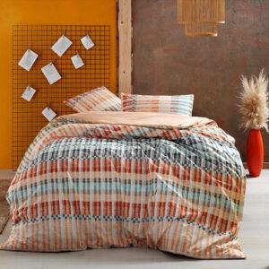 купить Постельное белье TAC ранфорс Luke V01 turuncu Оранжевый фото