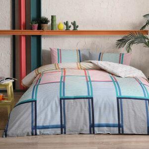 купить Постельное белье TAC ранфорс Santana V01 Голубой фото