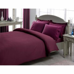 купить Постельное белье TAC сатин Premium Basic Stripe 1 СМ Murdum Фиолетовый фото