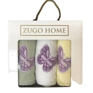 купить Набор кухонных полотенец Zugo Home Бабочки V1 3 шт  фото