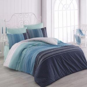 купить Постельное белье Zugo Home ранфорс Summer V1 Голубой фото
