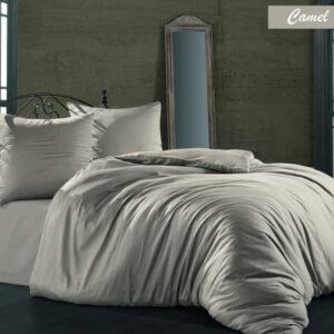 купить Постельное белье Zugo Home сатин однотонный Camel Бежевый фото