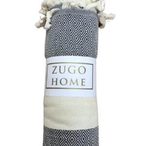 купить Покрывало пештемаль Zugo Home Cizgili 200x240 черный Серый фото