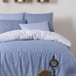 купить Постельное белье Zugo Home ранфорс Vira V1 mavi Голубой фото