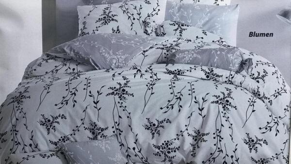 купить Постельное белье Zugo Home ранфорс Blumen V4 Серый фото