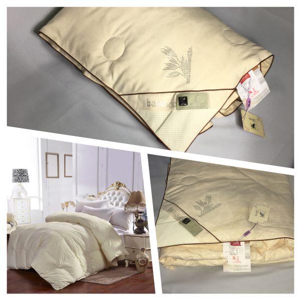 купить Одеяло бамбук с лавандой Кремовый Кремовый фото