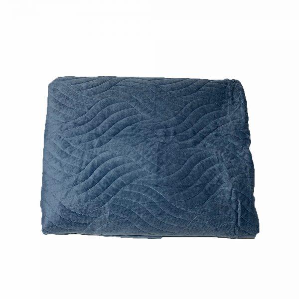 купить Покрывала Велюр Голубой Голубой фото 2