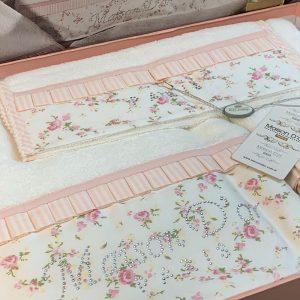 купить Набор бамбуковых полотенец Maison Dor Roses Розовый фото 2