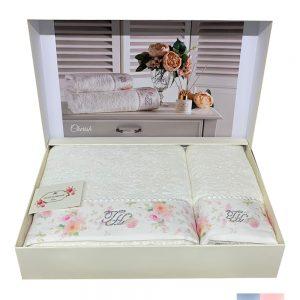 купить Набор полотенец TIVOLYO HOME CHERISH 2 Белый|Розовый фото