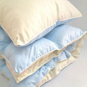 купить Детское одеяло и подушка голубой Голубой фото