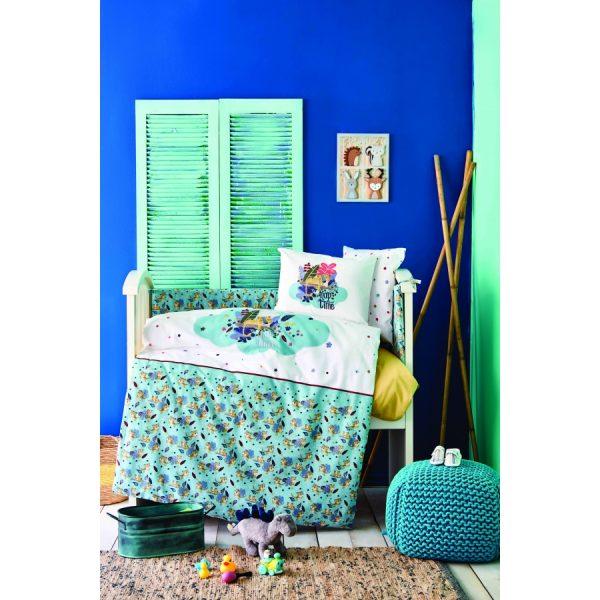 купить Детский набор в кроватку для младенцев Karaca Home - Bummer Indigo 10 Предметов Бирюзовый фото