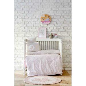 купить Детский набор в кроватку для младенцев Karaca Home - Little Pudra 7 Предметов Розовый фото
