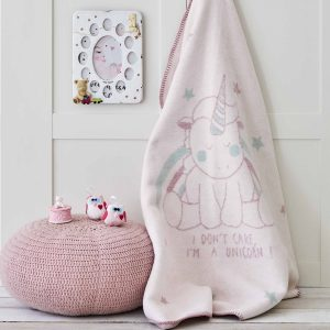 купить Детский плед в кроватку Karaca Home - Unicorn Розовый фото
