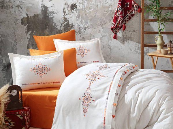 купить Постельное белье Ezgi Dantela Vita Оранжевый фото