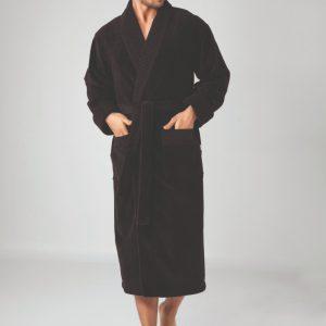 купить Мужской халат Nusa длинный без капюшона 2965 Коричневый Коричневый фото