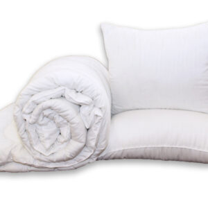 купить Одеяло Eco-страйп и 2 подушки 50х70 Белый фото
