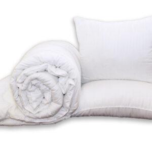 купить Одеяло Eco-страйп и 2 подушки 70х70 Белый фото