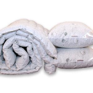 купить Одеяло лебяжий пух Cotton и 2 подушки 50х70 Серый фото