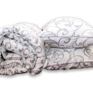 купить Одеяло лебяжий пух Venzel и 2 подушки 50х70 Серый фото