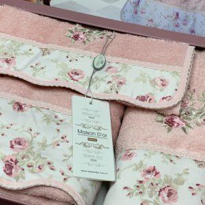 купить Набор хлопковых полотенец Maison Dor LADY ROSES PUDRA 3 Розовый фото 2