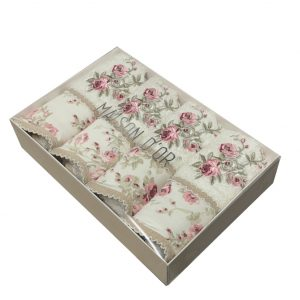 купить Набор бамбуковых полотенец Maison Dor LADY ROSES ECRU 4  фото