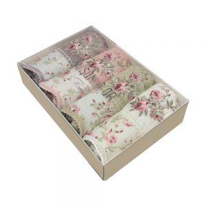 купить Набор бамбуковых полотенец Maison Dor LADY ROSES MIX 4  фото