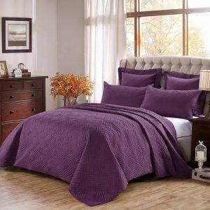купить Покрывала Велюр Стеганое Фиолетовый Фиолетовый фото