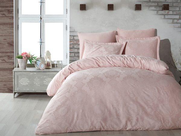 купить Постельное белье Жаккард Dantela Vita LOUISA PUDRA Розовый фото
