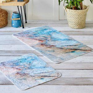купить Набор ковриков Karaca Home - Marble Голубой фото