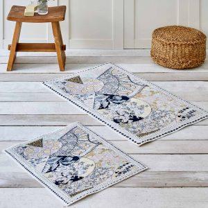 купить Набор ковриков Karaca Home - Suelita Серый фото