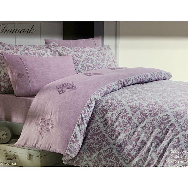 купить Постельное белье Maison Dor NEW DAMASK DARK ROSE Лиловый фото