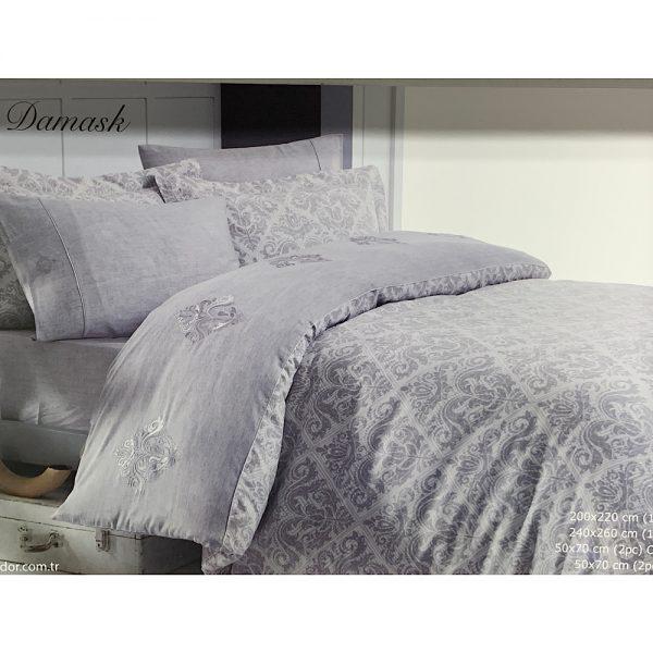 купить Постельное белье Maison Dor NEW DAMASK GREY Серый фото 3