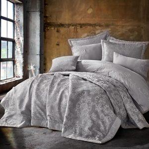 купить Постельное белье с Покрывалом Dantela Vita NILDA Серый фото
