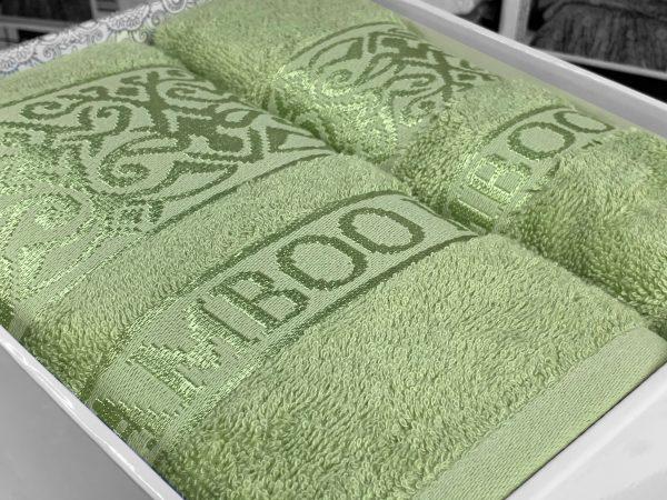 купить Набор бамбуковых полотенец OZKURT BAMBOO GREEN 2 Зеленый фото