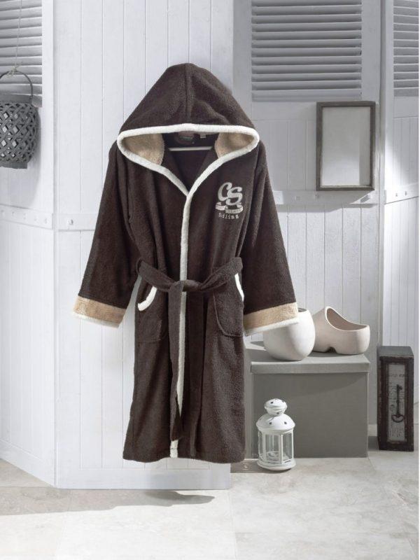 купить Детский халат Altinbasak для Мальчиков Pacific brown Коричневый фото