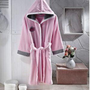 купить Детский халат Altinbasak для Девочек Pacific pink Розовый фото