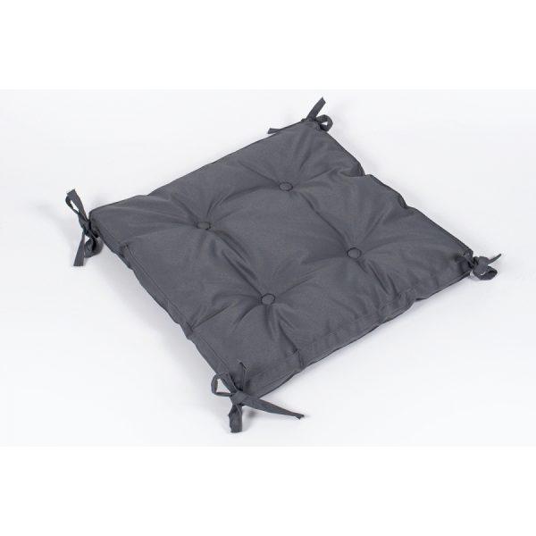 купить Подушка на стул Lotus - Optima с Завязками Серый фото